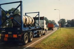 UF6-transport in de buurt van Almelo