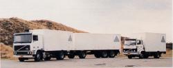 Het Covra vrachtwagenpark